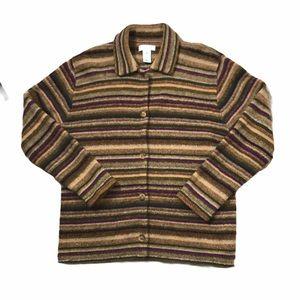 JONES NEW YORK wool collared cardigan   L